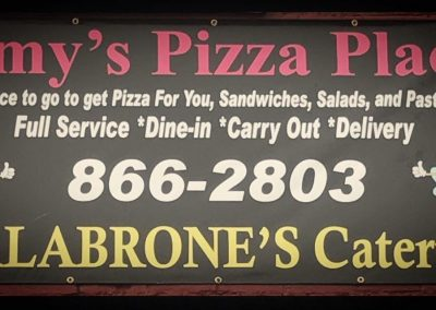Amy's Pizza Place Sign