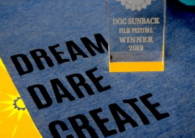 Dream Dare Create T shirt and Award