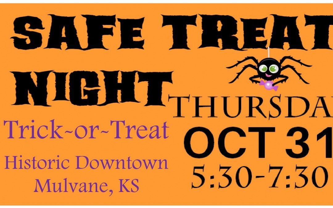 Safe Treat Night – in October